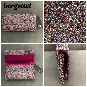 Crystallized Designer Clutch, NWT